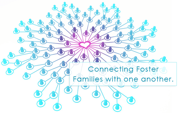 Foster families connecting - forming a network, a community